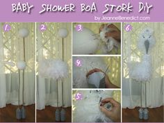 DIY Boy Baby Shower Decorations | DIY 5-Foot Boa Stork for a Baby Shower