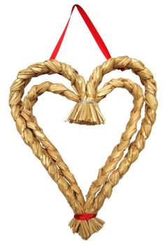 """Scandinavian Straw Heart w/Ribbon 10X13"""" ** Find out more about the great product at the image link."""