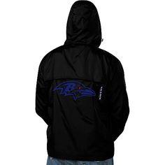 Men's Pro Line Baltimore Ravens Big & Tall Quick Breaker Hooded Jacket - NFLShop.com