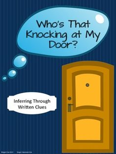 Inferring Craftivity with Written Clues: Who's That Knocking at My Door? $