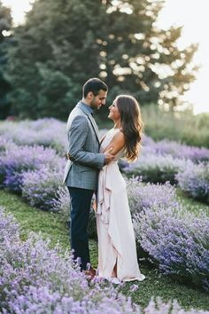 blooming floral engagement session