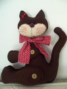 Gatinho prendedor de cortina de gatinho de feltro feito com a cor que o cliente desejar