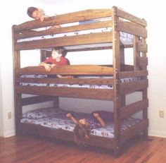 Bunk Bed Plans Triple Bunk Beds And Bed Plans On Pinterest