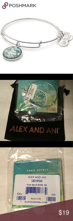 Alex & Ani Free Spirit Expandable Charm Bangle NWT Alex & Ani Free Spirit expandable charm bangle in Shiny Silver finish. It is a House Of Blues Music Forward Foundation bracelet. It comes sealed in bag in a velvety drawstring bag. PRICE FIRM. Please do not offer.                 From the brand site: Edgy with a side of wanderlust – she's a lover and a dreamer. Welcoming every opportunity that knocks, she goes wherever destiny moves her. A little bit of her lives in all of us. Unleash your…