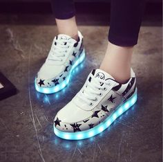 best service da5d1 9190d USB Charging LED shoes for boys girls- Lace-Up casual LED Shoes