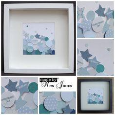 Personalised art // paper shape art // stars and by MadeByMrsJones