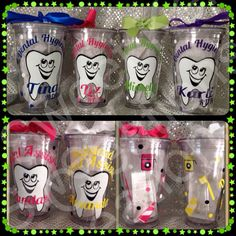 Dental Hygienist or Assistant Tumblers by SweetKelsiesCreation, $14.95
