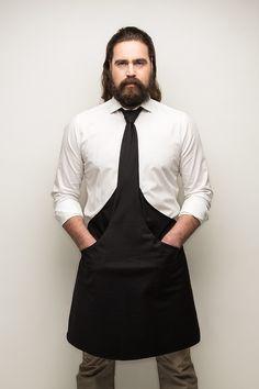 Tie & Apron schort en stropdas in één. Ideaal voor in de horeca.