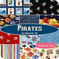 Pirates Fat Quarter Bundle Makower UK for Andover Fabrics
