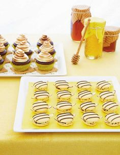 Love those bumblebee cookies (easy!) from Amy Atlas.