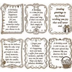 """Double Embossed Textsheet with """"Birthday"""" Verses in Gold - S652861GT"""