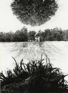 Jerry N.UELSMANN - Poet's house, 1965