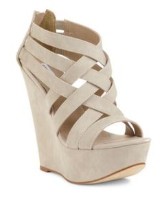 d0c366db7a0 Steve Madden Wedge Oh Steve you know the way to my heart  3 Nude Wedges