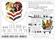 Leaflet made for Eco Bar