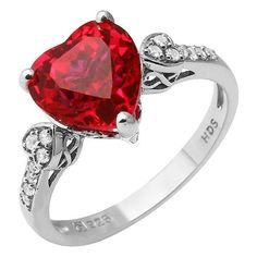Bulk Items For A Great Price!  100 Pieces of High Quality 925 Silver Ring with Created Ruby and Created White Sapphire (Brand New), Retail $6,000