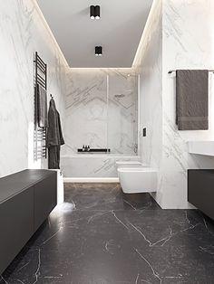 bathroom on Behance Modern Luxury Bathroom, Bathroom Design Luxury, Modern Bathroom Design, Washroom Design, Toilet Design, Bathroom Design Inspiration, Home Room Design, Bathroom Styling, Bathroom Renovations