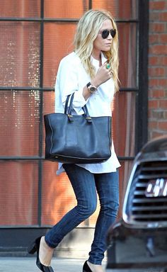 How to wear a white shirt, The Olsen by missatlaplaya