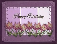 Violet Paint Chip card by cards4joy - Cards and Paper Crafts at Splitcoaststampers