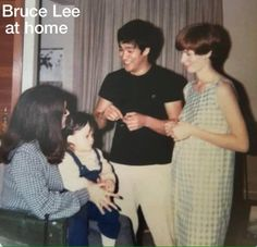 Very Rare photo of Bruce and Lee.