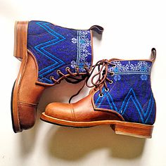 These blue boots are beauties! #customboots #teysha #handmade #guatemala