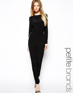 ASOS PETITE Exclusive Jumpsuit with Contrast Panel