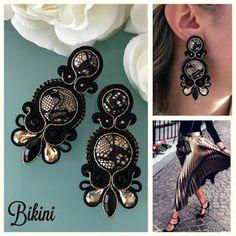 Veronique Creazioni Soutache Earrings, Tassel Earrings, Earring Trends, Shibori, Jewerly, Brooch, Embroidery, Crafts, Fili
