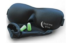 Sleep Mask by Bedtime Bliss® - Contoured & Comfortable With Moldex® Ear Plug Set. Includes Carry Pouch for Eye Mask and Ear Plugs - Great for Travel, Shift Work & Meditation (Black) - Healthy Products Library Bags Travel, Travel Gifts, Travel Stuff, Best Sleep Mask, Must Have Travel Accessories, Shift Work, Masked Man, Ear Plugs, Good Sleep