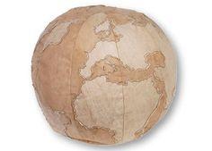 super pouf 'globe' en toile vintage Laundry Colorique | shop pour enfants Le Petit Zèbre 120 e