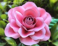 SVG and PDF Digital Paper Rose template, DIY paper flowers, Cricut svg cut file, paper roses cut out template, Wedding flowers bouquet