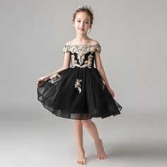 Sexy Black And Gold Embroidery Flower Girls Dresses For Wedding 2020 Off Shoulder Short with Sleeves Applique Cheap First Communion Dress 2020 Vintage Luxury Princess Girl Dress Girls Pageant Dresses Toddler Infant Girls Kids Formal Prom Evening Dresses Online with $86.23/Piece on Stunningdress88's Store | DHgate.com Flower Girls, Flower Girl Dresses, Evening Dresses Online, Girls Pageant Dresses, Princess Girl, Infant Girls, Gold Embroidery, Communion Dresses, Formal Prom