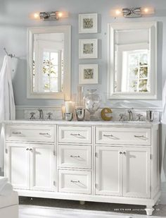 morning fog paint color - sherwin williams; for our bathroom