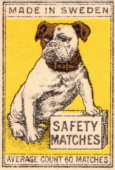 Sweden Made Safety Match Cover/Box~ by pilllpat (agence eureka), via Flickr