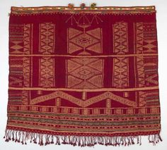 Africa | Shawl ~ tajira ~ from the Berber people living in Matmata, Gabès governorate, Tunisia | 20th century | Wool and cotton //