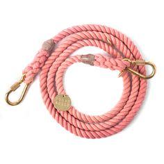 Blush Rope Dog Leash, Adjustable