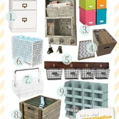 organization...I love to look at organizational products!