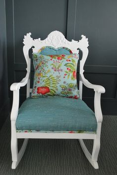 I love this rocking chair redo!