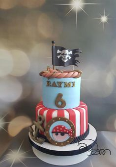 Cute pirate cake by Anneke van Dam