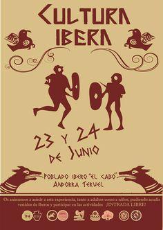 """RECREACIÓN HISTÓRICA POBLADO ÍBERO DE """"EL CABO"""" Andorra, Portal, Movie Posters, Movies, Activities, History, Film Poster, Films, Movie"""