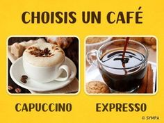 Test: Choose your coffee, and we'll reveal all about your personality Test Image, Coffee Drinks, Coffee Time, Espresso, Tableware, Creative, Desserts, Recipes, Food