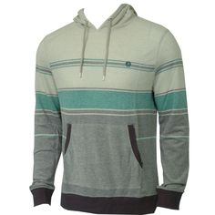 #Volcom Mens Knit Fixation Hooded Teal Smoke