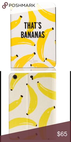 Kate Spade IPad mini case 2/3 New never used, so cute 🍌🍌🍌 kate spade Accessories