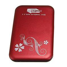 "PROMOTION! 2.5"" Flower External Hard Drive Disk USB 3.0 SATA HDD Case Box Enclosure Red"