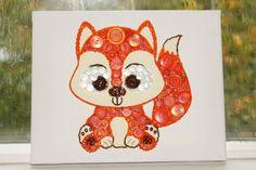 Fox button art  Fox  Button art  Buttons  by JennMakesItCute
