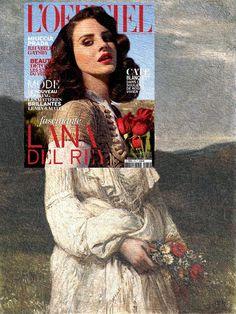 Portrait of Lana Del Rey Lana Del Rey, L'Officiel Paris April 2013 + Soring: Portrait of Ilona Lippich by Károly Lotz