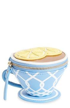 kate spade new york 'tea cup' leather coin purse available at #Nordstrom