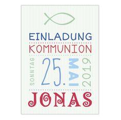 Einladungskarten - Einladung zur Kommunion / Konfirmation • DIN A6 - ein Designerstück von bunte-bilder-verlag bei DaWanda