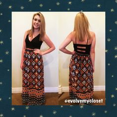 Hey ladies! We've got TWO more zipper beach bags left to get for FREE when you spend $75 or more! Come by Evolve and check out this fun aztec maxi! Pair this maxi with some bright accessories and get yourself a FREE gift! Call 2105495001 to reserve your size, or comment below! #evolvemycloset #evolveboutique #ootd #maxi #newarrival