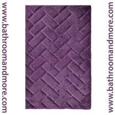 Bathroom And More - Plum Purple Memory Foam Bath Mat/rug : Brick Design, Spa Soft Microfiber, Non Skid Backing, $14.99 (http://www.bathroomandmore.com/products/plum-purple-memory-foam-bath-mat-rug-brick-design-spa-soft-microfiber-non-skid-backing.html)