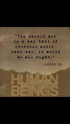 Louis CK is a philosopher