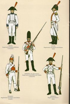 Esercito spagnolo 1808 (34) Empire, Battle Of Waterloo, Army Uniform, Imperial Russia, Spain And Portugal, Napoleonic Wars, Spanish, Military, History